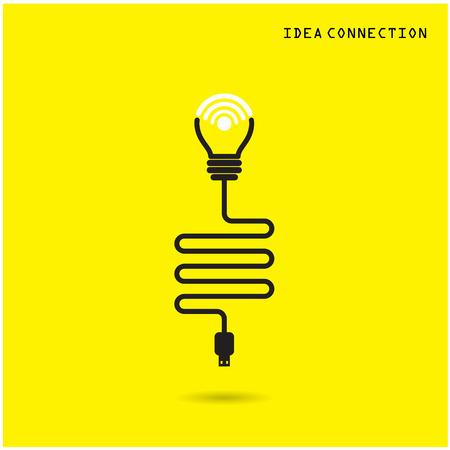 point chaud: Ampoule Creative avec des ic�nes de connexion wifi pour usage commercial ou professionnel. Vector illustration