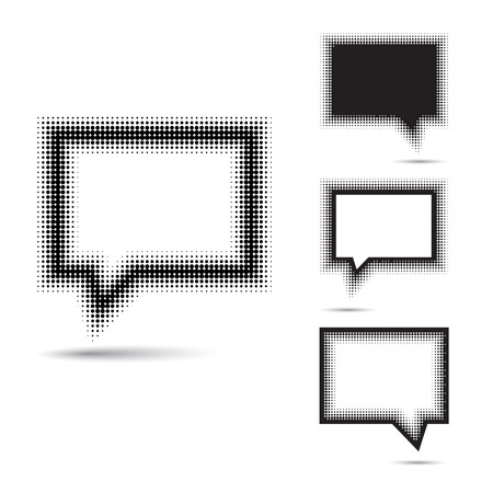 Set of abstract halftone design elements. Vector illustration Vector