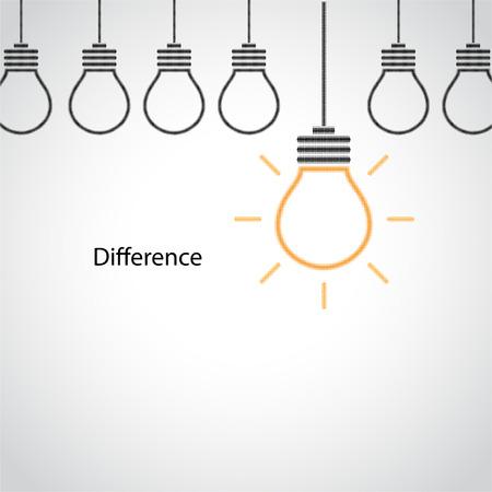 concept and idea: Creative light bulb idea concept sign, halftone style.Vector illustration