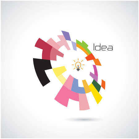 brain: Creative circle abstract design template. Illustration