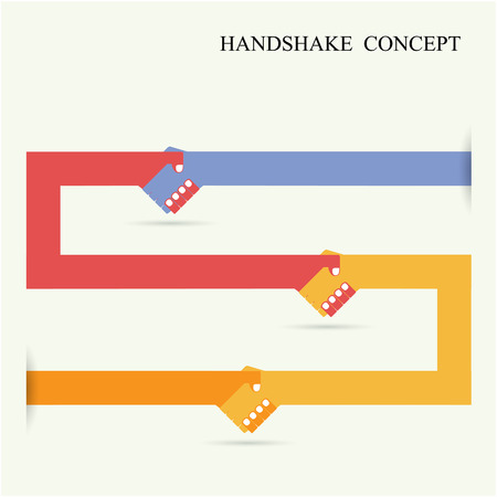 achievement clip art: Handshake abstract sign vector design template. Business creative concept. Vector illustration