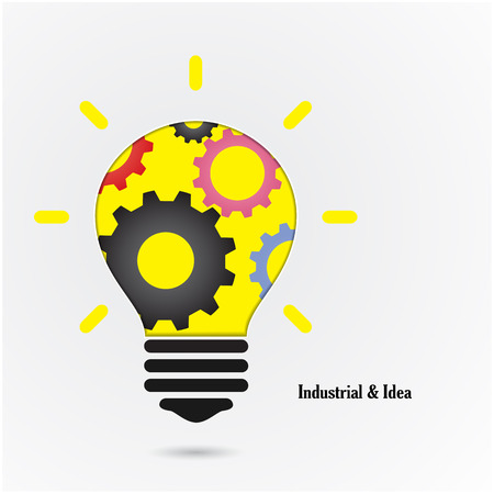 achievement clip art: Creative light bulb Idea concept background ,design for poster flyer cover brochure ,education and business idea. Vector illustration