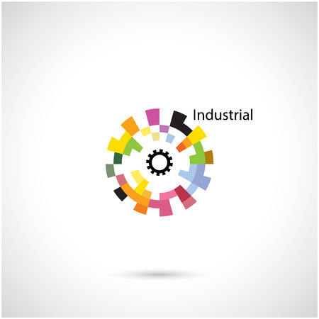 innovacion: C�rculo creativo abstracto vector plantilla de dise�o del logotipo. Actividad empresarial logotipo creativo industrial symbol.Vector ilustraci�n Vectores