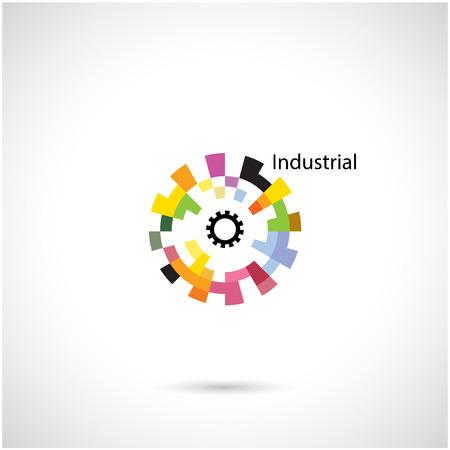 Creative cercle abstrait vecteur modèle de conception de logo. Les services aux entreprises logotype créative industrielle symbol.Vector illustration Banque d'images - 35941253