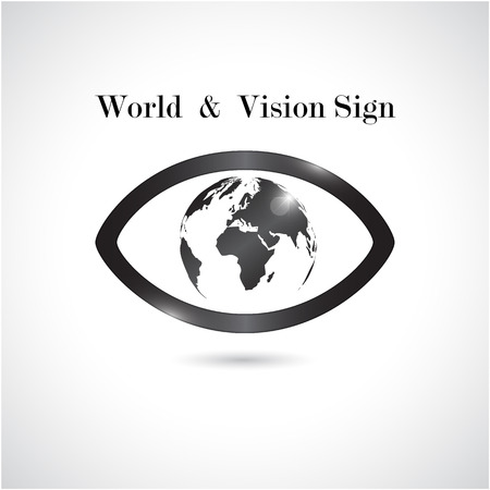 Global vision sign,eye icon,search symbol,business concept. Vector illustration Illustration