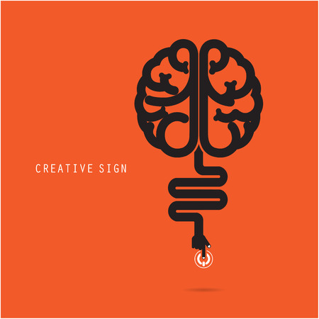 brain clipart: Creative brain concept, design for poster ,flyer, cover or brochure. Business and education concept. Vector illustration