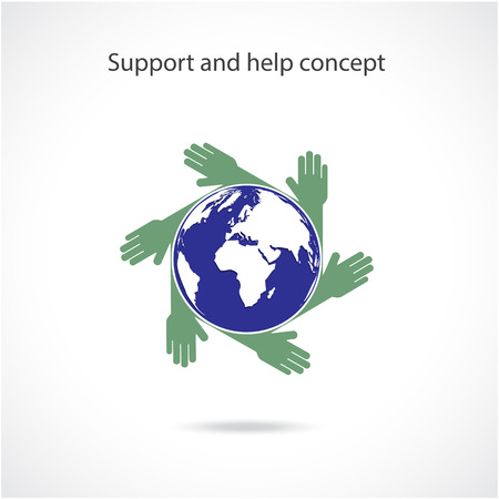 Support and help concept, teamwork hands concept, handshake concept, business ideas .Vector illustration Vector