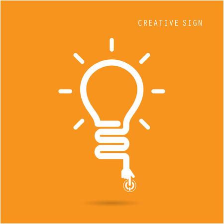 Creative light bulb concept, design for poster flyer cover brochure, business idea, education concept.vector illustration Stock Illustratie