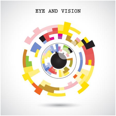 Creative circle abstract vector icon design.
