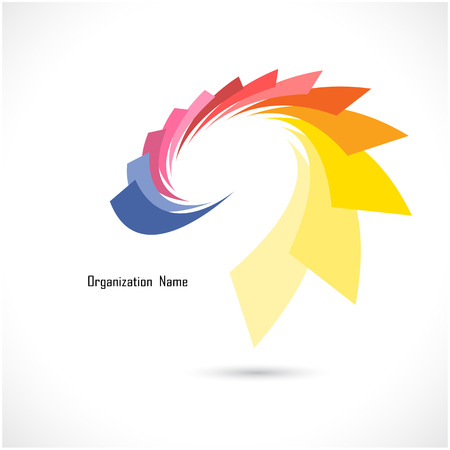 package design: Creative abstract vector icon design template. Corporate business and flower creative icontype symbol. Vector illustration.