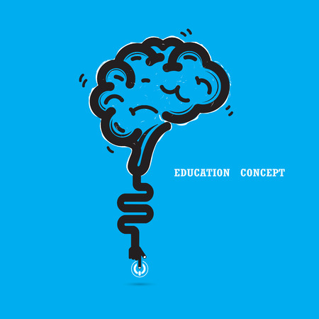 knowledge clipart: Brain opening concept.Creative brain abstract vector icon design template. Illustration