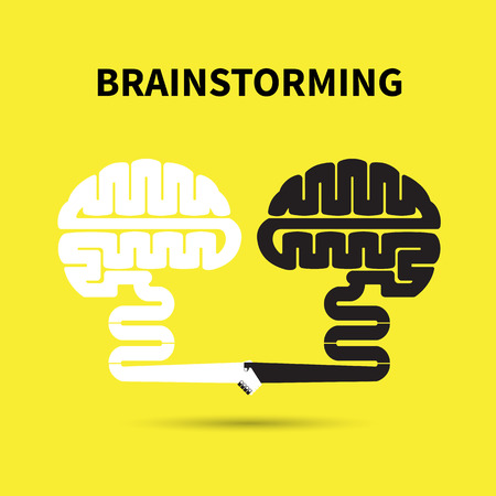 Brainstorming concept.Creative brain abstract vector design template. Corporate business industrial creative symbol.Vector illustration Illustration