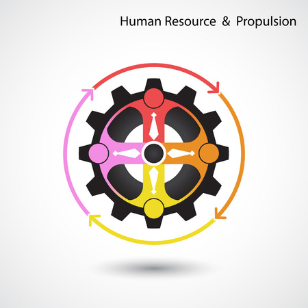 propulsion: Human resource and business & industrial propulsion concept.  Vector illustration Illustration