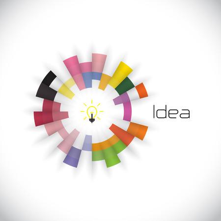 Creative cercle de modèle de conception abstraite de vecteur. La technologie des affaires d'entreprise symbol.Vector créative illustration Banque d'images - 40328244