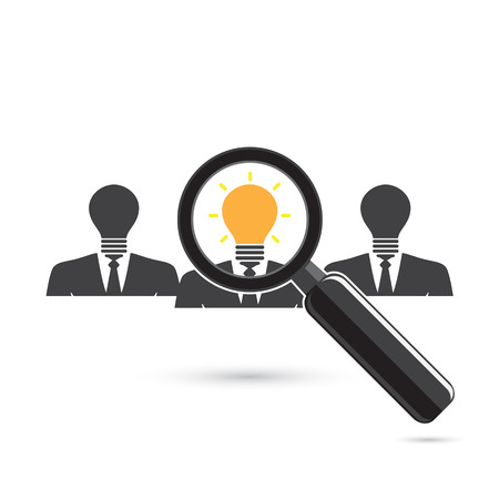 looking for: Search for an employee. Looking For Positive thinker. Looking For Talent. Search for businessman. Vector illustration