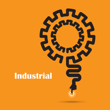 industrial design: Industrial concept.Creative industrial abstract vector logo design template. Corporate business industrial creative logotype symbol.Vector illustration Illustration