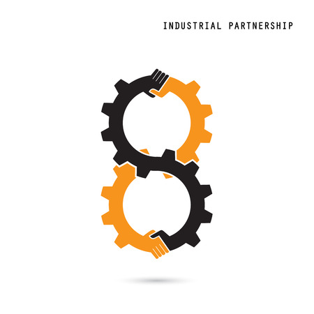 industrial design: Creative handshake sign and industrial idea concept background, design for poster flyer cover brochure ,business idea ,industrial sign,abstract background.vector illustration