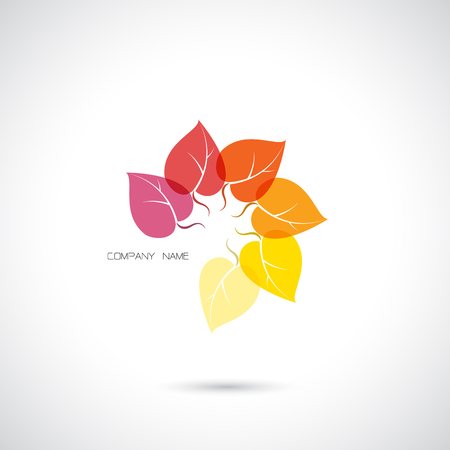 flower logo: Creative abstract vector logo design template,clean and modern pattern.Vector illustration. Illustration