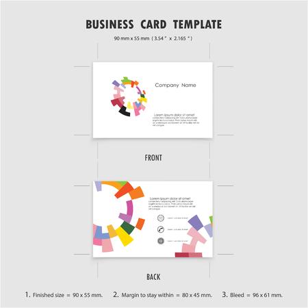 logos empresa: Abstracto creativo tarjetas de visita plantilla de diseño, 90mmx55mm Tamaño (3,54 x 2,165 in). Para tarjetas de visita del símbolo. ilustración vectorial