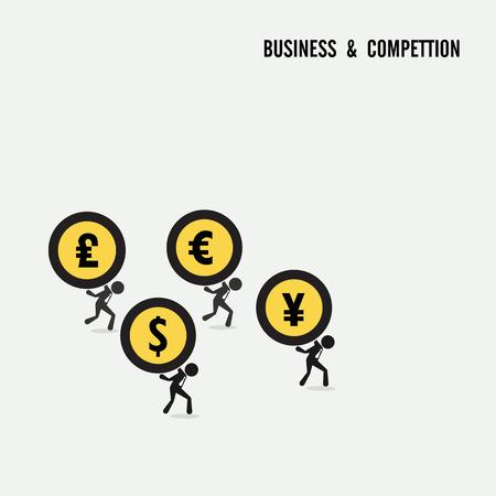 contention: Business competition idea concept. Business cartoon idea symbol.Vector illustration Illustration