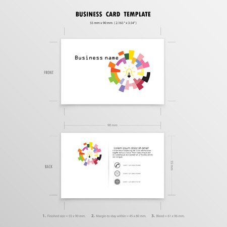 Abstract creative business cards design template name cards abstract creative business cards design template name cards symbol size 55 mm x 90 accmission Gallery