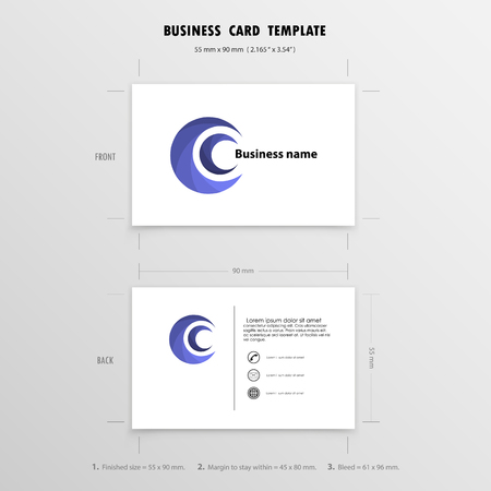 Abstract creative business cards design template size 90mmx55mm abstract creative business cards design template name cards symbol size 55 mm x 90 cheaphphosting Image collections