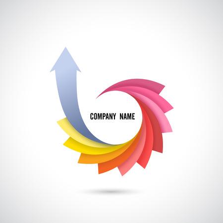 Creative Abstract Vector Logo Design TemplateVector Illustration