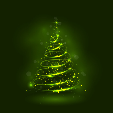 shinny: Shining christmas tree, the magic christmas tree, shinny christmas tree.Happy new year and merry christmas abstract background.Vector illustration