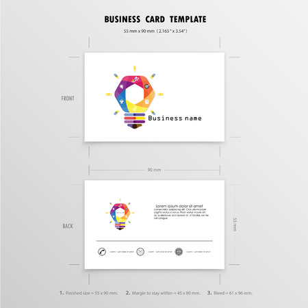 Business cards design template name cards symbol size 55 mm x 90 47711456 abstract creative business cards design template name cards symbol size 55 mm x 90 mm 2165 in x 354 inctor illustration reheart Gallery