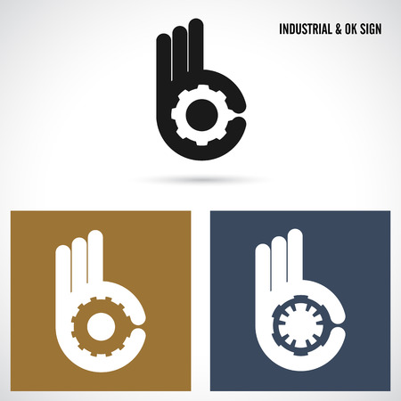Creative B letter icon abstract logo design vector template.Letter B fingers vector sign.Hand Ok symbol icon.Corporate business and industrial creative logotype symbol.Vector illustration