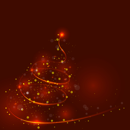 shinny: Shining christmas tree, the magic christmas tree, shinny christmas tree.Happy new year and merry christmas abstract background.Vector illustration