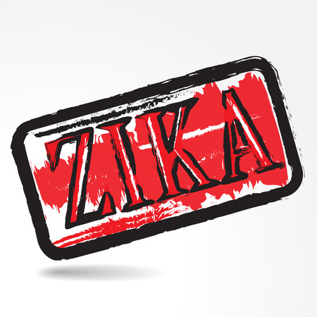pandemic: Zika virus grunge rubber stamp on white background.Vector illustration Illustration
