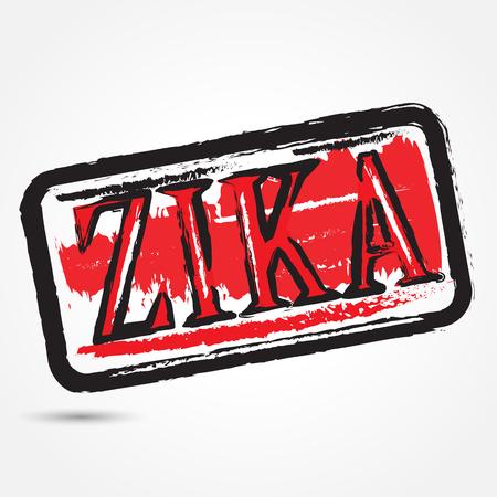 Zika virus grunge rubber stamp on white background.Vector illustration Illustration