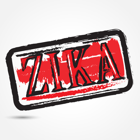 infected: Zika virus grunge rubber stamp on white background.Vector illustration Illustration