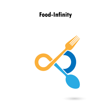 infinity icon: Food and infinity icon.