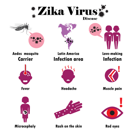 Zika virus infographic.