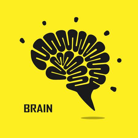 cerebro humano: resumen vector plantilla de diseño de logotipo creativo del cerebro. Actividad empresarial logotipo creativa ilustración industrial symbol.Vector