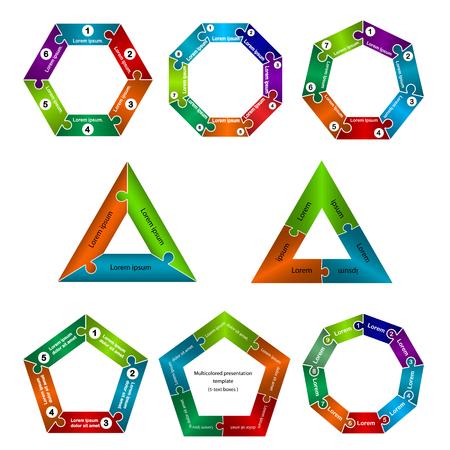 heptagon: Set of infographic business presentation template.Infographic Element.Business infographic.Layout design.Vector illustration