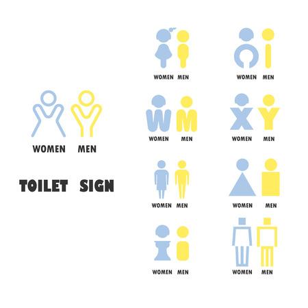 chromosome x y: Toilet or restroom logo vector design template.Women and men toilet icon. Vector illustration