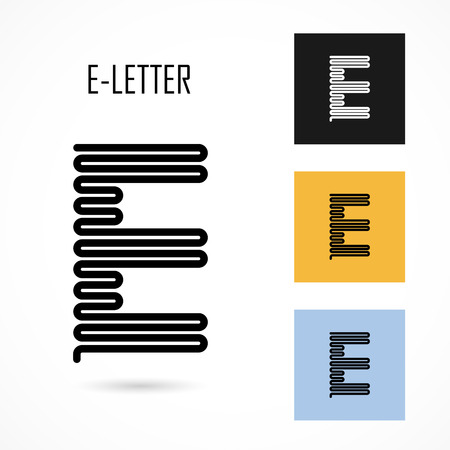 e alphabet: Creative E- letter icon abstract logo design vector template.Creative E- alphabet vector design.Business and education creative logotype symbol.Vector illustration