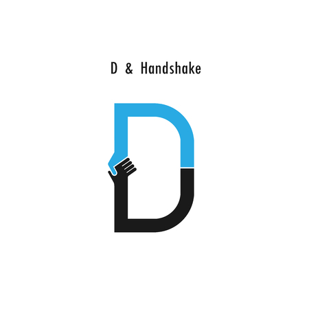 d offer: Creative D- letter icon abstract logo design vector template.Business offer,partnership icon.Corporate business and industrial logotype symbol.Vector illustration