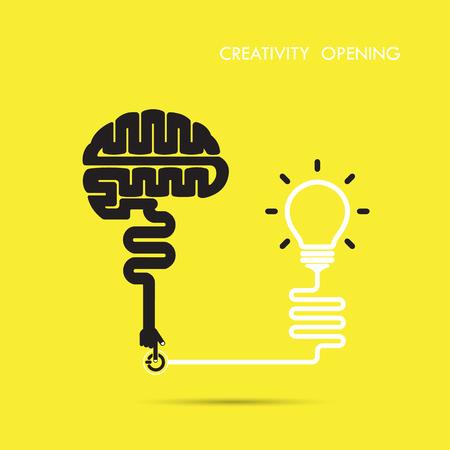 Creativity brain opening concept.Creative brain abstract vector logo design template. Corporate business industrial creative logotype symbol.Vector illustration