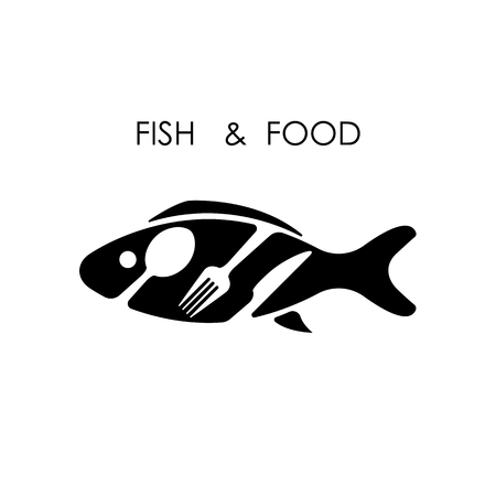 spoon fork: Fish,spoon,fork and knife icon