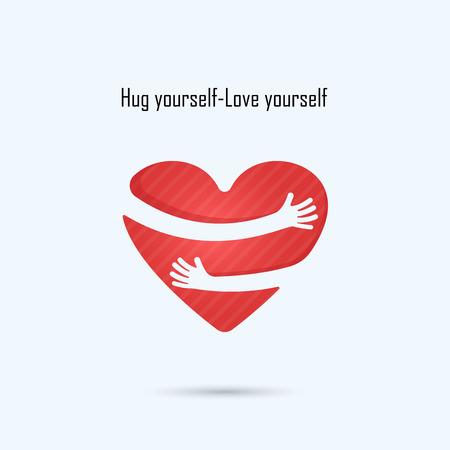 yourself: Hug yourself