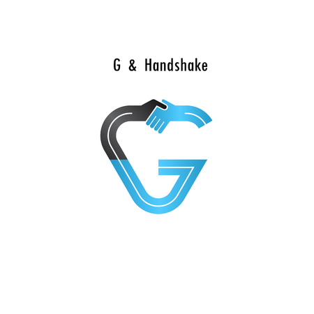 consonant: G- letter icon abstract logo design vector template.Business offer,partnership icon.Corporate business and industrial logotype symbol.Vector illustration Illustration