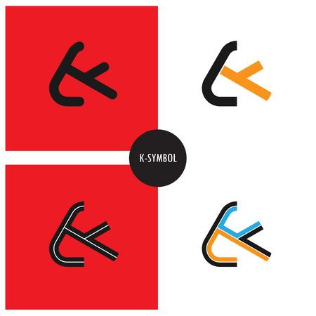 K- Company Symbol.K-letter abstract logo design.Vector illustration