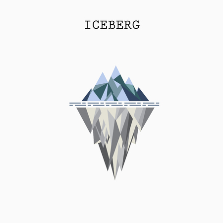 Abstract triangle iceberg vector logo design infographic template.