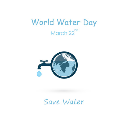Water drop and water tap icon