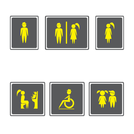 baby toilet seat: Toilet Signs ,Restroom Signboards.Boy and girl icon.man and woman icon.Family icons set.Vector illustration