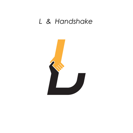 Creative L- letter icon abstract logo design vector template.Business offer,partnership icon.Corporate business and industrial logotype symbol.Vector illustration Ilustração